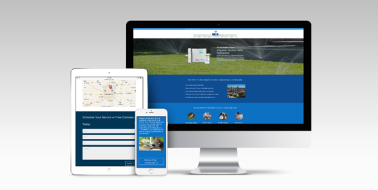 Irrigation website design
