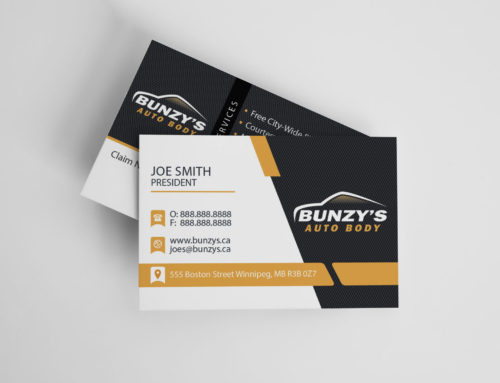 Bunzy's Auto Body Business Cards