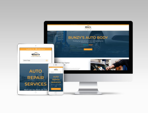 Bunzy's Auto Body Website